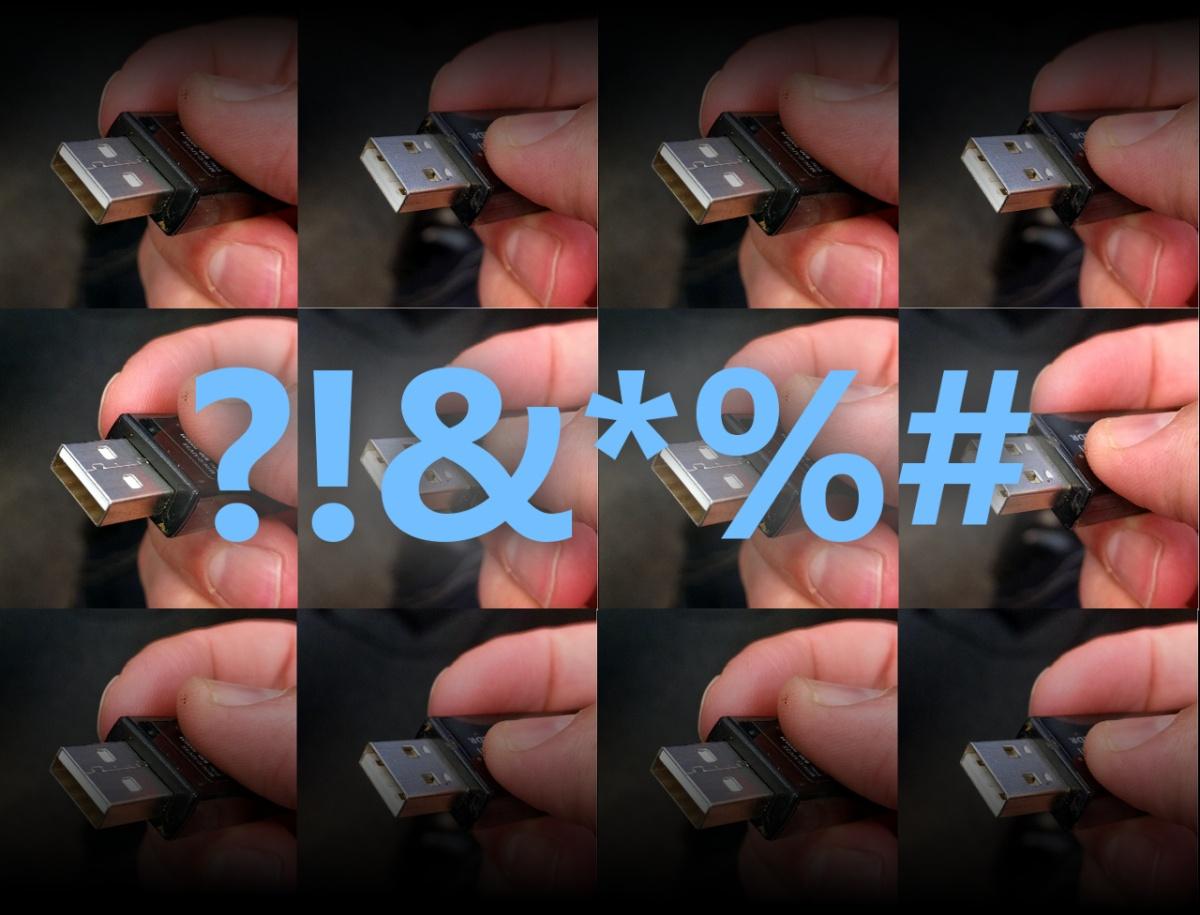 Inserting USB an emotionalrollercoaster