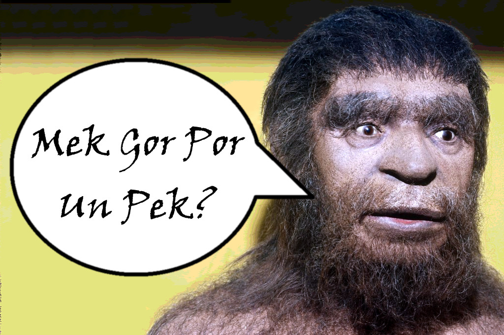 Talk like a Neanderthal